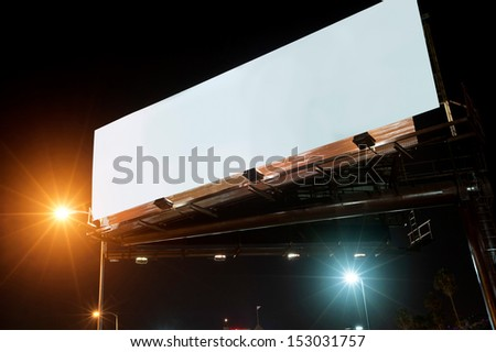 Billboard at night