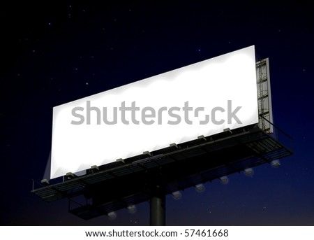 Billboard at night - stock photo