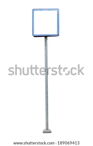 Billboard, banner, empty place for ad isolated on white background.