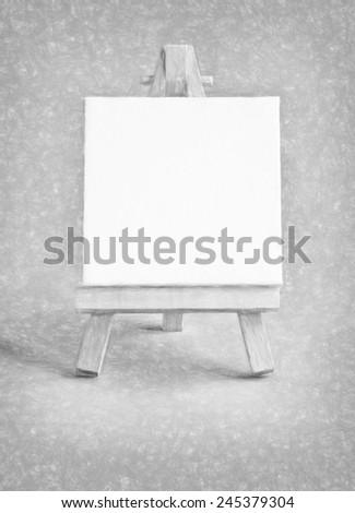 billboard  - illustration based on own photo image - stock photo