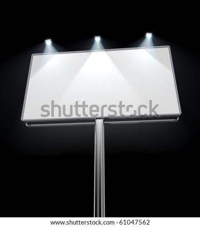 Billboard in night - stock photo