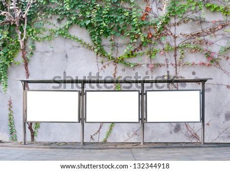 Billboard in the street - stock photo