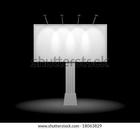 Billboard. Night edition - stock photo