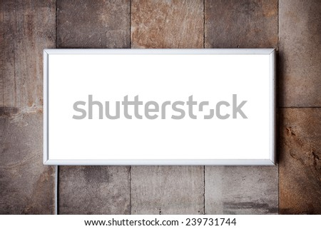 Billboard on a buildings exterior wall. - stock photo