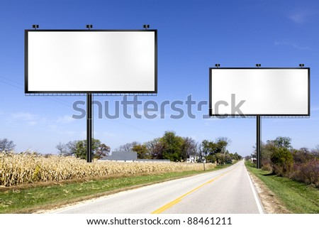 Billboard on Country Road