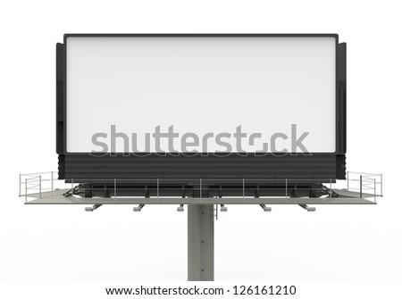 Billboard on White - stock photo
