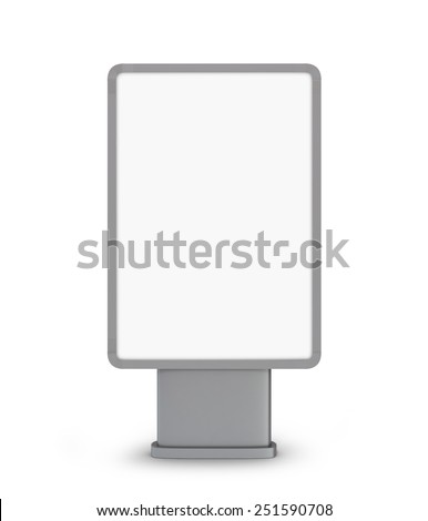 billboard on white background - stock photo