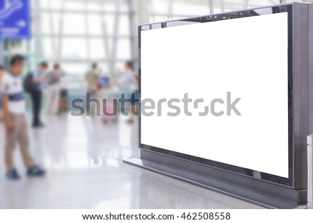 billboard or advertising poster in the airport for advertisement concept background.