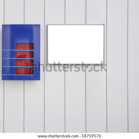 Billboard (poster on the wall) - stock photo