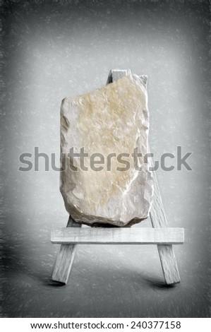 billboard rock  - illustration based on own photo image - stock photo