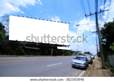 billboard with road and sky