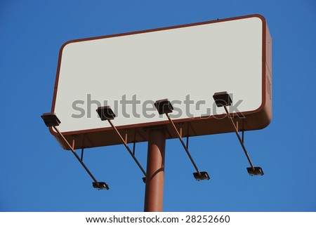 billboard with the blank space for your own message - stock photo