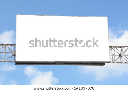 billboards to advertise your pet with a blue sky background - stock photo