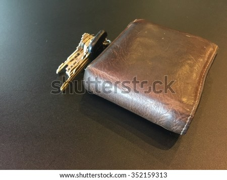 billfold and  a key