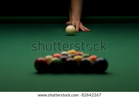 Billiard - stock photo