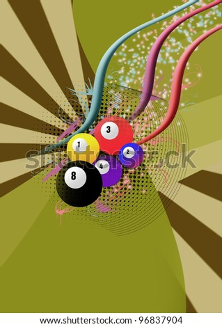 Billiard background with space (poster, web, leaflet, magazine)