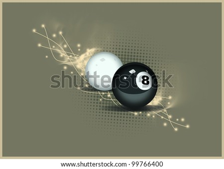 Billiard background with space (poster, web, leaflet, magazine) - stock photo