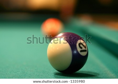Billiard ball number twelve extreme close-up