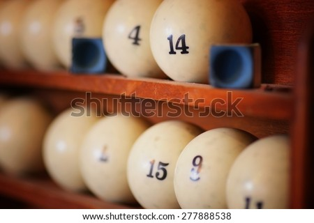 billiard cue balls - stock photo