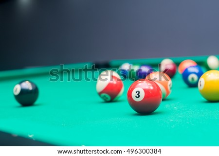 Billiard pool Balls / 3th ball