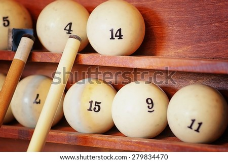 billiard rack - stock photo