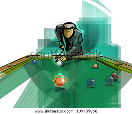 Billiards a hustler - stock photo