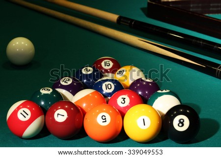 billiards balloons cue table cloth pocket a game competition rivals sport accuracy