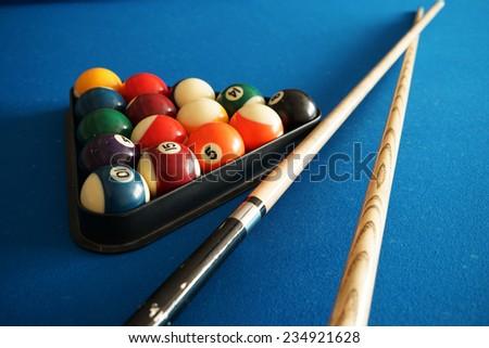 Billiards game full of fun - stock photo