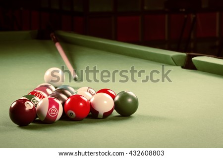 Billiards. Pool game.