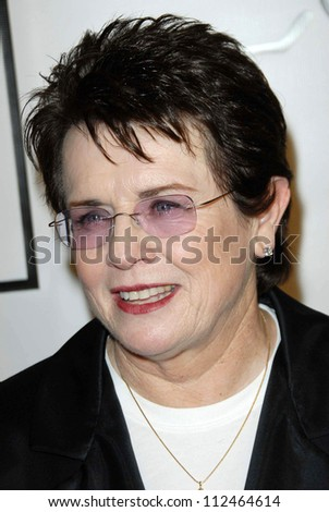 "Billie Jean King at ""The Billies"" presented by the Women's Sports Foundation. Beverly Hilton Hotel, Beverly Hills, CA. 04-11-07"