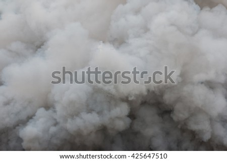 Billowing Black Smoke - stock photo