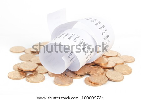 Bills - stock photo