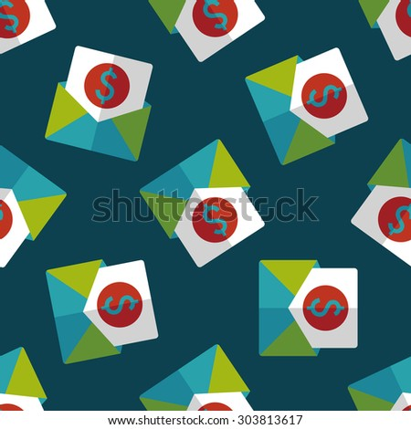 bills flat icon,eps10 seamless pattern background
