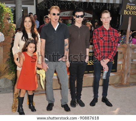 "Billy Bob Thornton & family at the Los Angeles premiere of his new movie ""Puss in Boots"" at the Regency Village Theatre, Westwood. October 23, 2011  Los Angeles, CA Picture: Paul Smith / Featureflash"