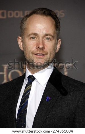 Billy Boyd at the Los Angeles premiere of 'The Hobbit: The Battle Of The Five Armies' held at the Dolby Theatre in Hollywood on December 9, 2014.  - stock photo