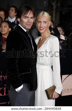 Billy Burke and Pollyanna Rose at the Los Angeles premiere of 'The Twilight Saga: Breaking Dawn Part 1' held at the Nokia Theatre L.A. Live in Los Angeles on November 14, 2011.  - stock photo