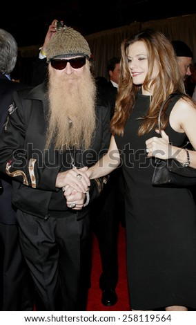 "Billy Gibbons attends The Walt Disney and Jerry Bruckheimer Pictures World Premiere of ""Glory Road"" held at The Pantages Theater in Hollywood, California on January 5, 2006.   - stock photo"