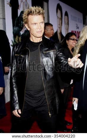 "Billy Idol at the World Premiere of ""Old Dogs"" held at the El Capitan Theater in Hollywood, California, United States on November 9, 2009.   - stock photo"