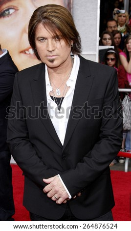 Billy Ray Cyrus at the Los Angeles premiere of 'Hannah Montana The Movie' held at the El Capitan Theater in Hollywood on April 4, 2009. - stock photo