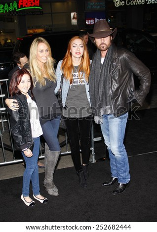 "Billy Ray Cyrus at the Los Angeles Premiere of ""Joyful Noise"" held at the Grauman's Chinese Theater in Los Angeles, California, United States on January 9, 2012.  - stock photo"