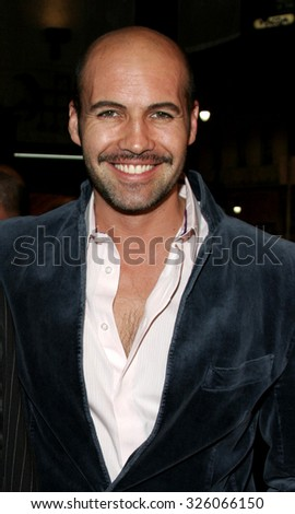 "Billy Zane attends The Romar Entertainment Los Angeles Premiere of ""Bloodrayne"" held at The Mann's Chinese Theater in Hollywood, California on January 4, 2006.