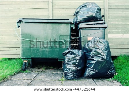 Bin Trash and Garbage. - stock photo