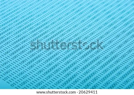 Binary background - stock photo