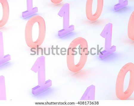 Binary Code Abstract Background 3D Rendering - stock photo
