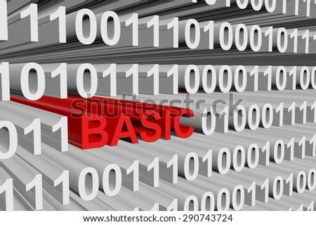 binary code Basic - stock photo