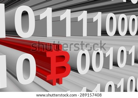 binary code bitcoin payment system - stock photo