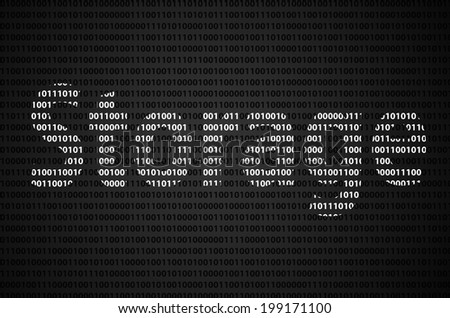 """Binary code concept with """"Storage"""" text appear on white binary code - stock photo"""