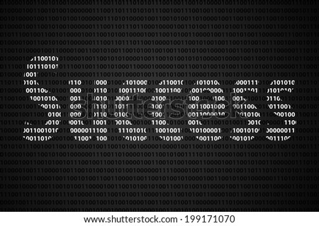 """Binary code concept with """"Success"""" text appear on white binary code - stock photo"""