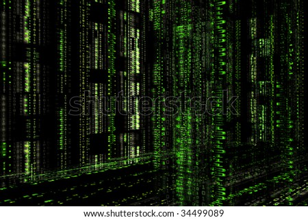 binary code, digital coding, abstract encoding, computer language, machine language, bytes representation, matrix texture, software concept - stock photo