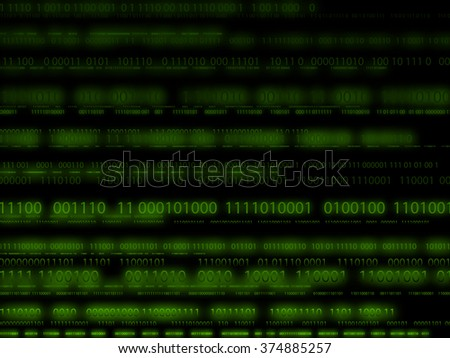 Binary code green Technology background